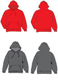 Hooded sweat shirt. Hooded sweat shirt design template with front and back Stock Photos