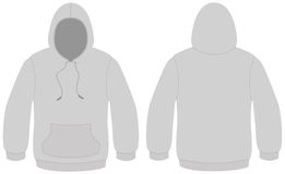 Hooded sweater template vector illustration. Template vector illustration of a blank hooded sweater. All objects and details are isolated. Colors and white Royalty Free Stock Images