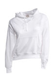 Hooded Sweater in White Royalty Free Stock Photo