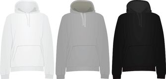 Hooded sweaters template. Vector illustration Stock Image