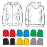 Hooded sweatshirt with zipper Stock Photos