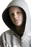 Hooded teenage boy Royalty Free Stock Images