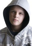Hooded teenage boy Stock Image