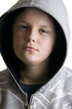 Hooded teenage boy Royalty Free Stock Photo