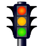 Hooded Traffic Lights Stock Images
