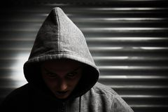 Hooded vampire Stock Photo