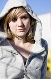 Hooded Winter Woman Royalty Free Stock Photography