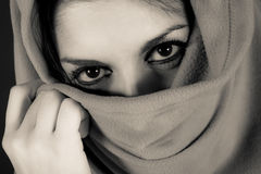 Hooded woman Stock Photography