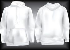 hoodie πρότυπο μπλουζών σακακ&iot Στοκ Εικόνα