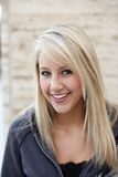 hoodie atrakcyjna blond kobieta Fotografia Royalty Free