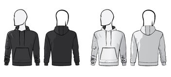 Hoodie blank template Royalty Free Stock Photography
