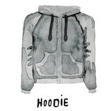 Hoodie. drawn watercolor illustration. Royalty Free Stock Photography