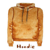 Hoodie. drawn watercolor illustration. Royalty Free Stock Image