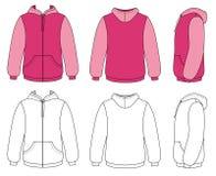 hoodie kontur Obrazy Royalty Free