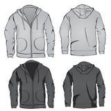 Hoodie sweatshirt template Stock Image