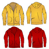 Hoodie sweatshirt template Stock Photo