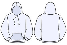 Hoodie vector template Royalty Free Stock Photos