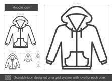 Hoodielinje symbol vektor illustrationer