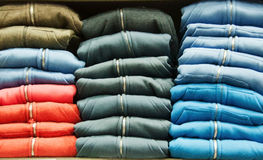 Hoodies in the store Stock Images