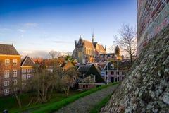 Hoodlandse Kerk, Leiden, Nederländerna Arkivfoton