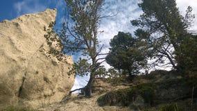 Hoodoo горы banff долины смычка Стоковая Фотография