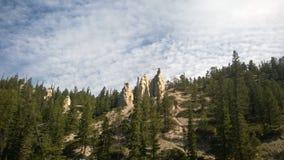 Hoodoo горы banff долины смычка Стоковые Изображения RF