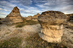 Hoodoo Badlands Alberta Canada Royalty Free Stock Photos