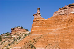 Hoodoo at Capitol Peak. In Palo Duro Canyon State Park in Texas Royalty Free Stock Photos