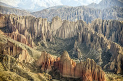 Hoodoo near Tupiza, Bolivia. Bolivia - the most beautifull Andes in South America. Tupiza landscape are full of colored rock, hills, mountains and canyon Royalty Free Stock Photos