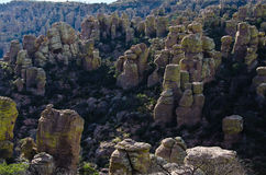 Hoodoo Rock Formations in the Chiricahua National Monument Stock Photo