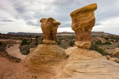 Rock Hoodoos in Devils Garden Escalante Utah Stock Photography