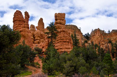 Hoodoo Rock Formations of Red Canyon Royalty Free Stock Image