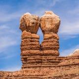 Hoodoo rock formations at utah park mountains. Hoodoo rock formations at utah national park mountains Royalty Free Stock Images