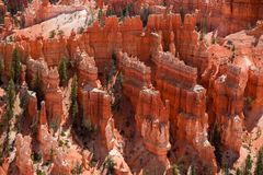 Hoodoo rock spires of Bryce Canyon. Detail of the Hoodoo rock spires of Bryce Canyon, Utah, USA Royalty Free Stock Photography