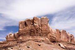 Hoodoo rockowe formacje przy Utah parka narodowego górami Zdjęcie Stock