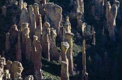 Hoodoo Rockowe formacje w Chiricahua Krajowym zabytku Obraz Royalty Free