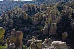 Hoodoo Rockowe formacje w Chiricahua Krajowym zabytku Zdjęcie Stock