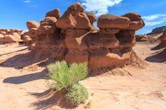 Hoodoo Rockowych pinakle w dziwożona stanu parka Utah Dolinnym usa zdjęcie stock
