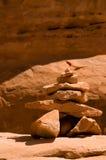 Hoodoo rojo de la roca en parque nacional de los arcos Imágenes de archivo libres de regalías