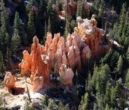 hoodoos каньона bryce накаляя Стоковые Фотографии RF