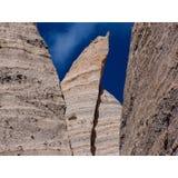 Размывание Hoodoos слои пустыни Неш-Мексико стоковое изображение