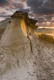 Hoodoos. At Sunset In Dinosaur Provincial Park, Alberta, Canada Royalty Free Stock Images