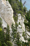 The Hoodoos in Banff National Park Stock Images