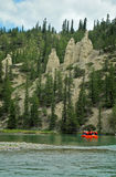 Hoodoos, Bow Valley, Banff, Canada. A view of the hoodoos in the Bow Valley Banff National Park. The hoodoos are striking landscape features said to be created Stock Photo