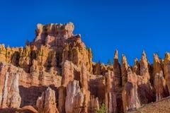 Hoodoos in Bryce canyon national Park, Utah. Orange and pink hoodoos lit by morning light in Bryce canyon national Park, Utah stock images