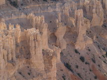 Hoodoos. In Bryce Canyon, Utah over a slope demonstrating angle of repose Royalty Free Stock Image