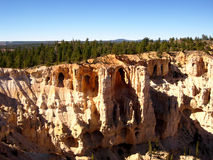 Hoodoos in Bryce Point. Hoodoos, typical geological features of Bryce Canyon, as seen from Bryce Point (Utah, USA Stock Image