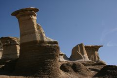 Hoodoos canadiens Images libres de droits