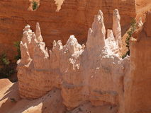Hoodoos. Cast shadows within Bryce Canyon, Utah Stock Image