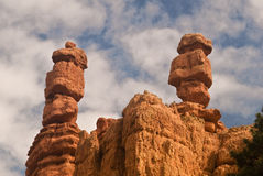 Hoodoos in Dixie National Forest. This is a picture of hoodoos in Dixie National Forest in Southern Utah Royalty Free Stock Photos